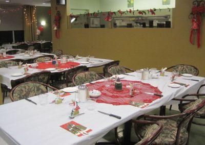 Salle à manger décorée à notre résidence à Montréal - Résidence Alexis-Nihon (Résidence à St-Laurent)